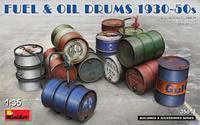 Fuel & OIL Drums 1930-50s