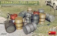 German 200L Fuel Drums (12 ks)