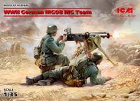 WWII German MG08 MG Team