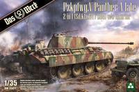 Pzkpfwg. V, Panther A Late, 2 in 1,  (SD.Kfz.171 / 268) w/o interier