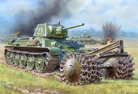 Soviet medium tank T-34/76 with Mine Roller