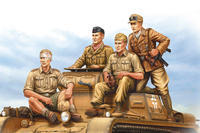 German Tropical Panzer Crew 4 fig.