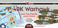 P-40K Warhawk over the Pacific and China, decals