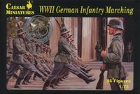 WWII German Infantry Marching 36 fig.