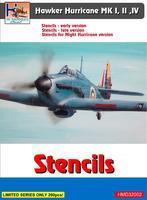 Hawker Hurricane MK I, II, III - Stencils