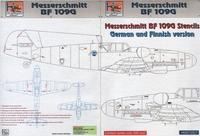 Messerschmitt BF 109G - Messeschmitt BF 109G Stencils - German and Finnish version