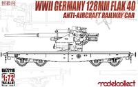 WWII Germany 128MM Flak Anti -Aircraft  Railway Car
