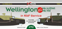 Wellington MK.Ic/DWI, MK.VII, in RAF Service