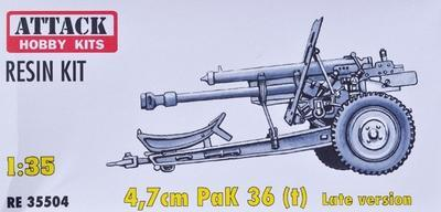 4,7cm PaK 36 (t) Late version, resin