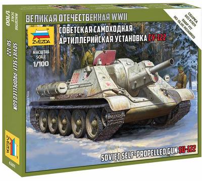 Soviet Self Propelled Gun SU-122 (1:100)