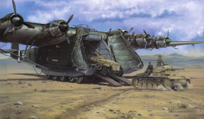 ME323 E2 Gigant - Luftwaffe Transpoter w Sd.Kfz 250 & Panzer II Ausf. F