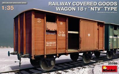 Railway Covered Goods Wagon 18t - 1