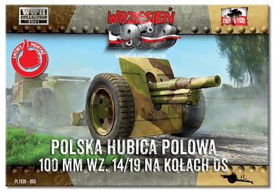 Polska Hubica Polowa 100 mm wz. 14/19 na kolach DS - 1