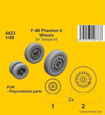 F-4B Phantom Wheels (from Tamiya kit) , resin