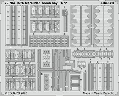 B-26 Marauder bomb bay 1/72 , lept