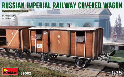 RUSSIAN IMPERIAL RAILWAY COVERED WAGON - 1