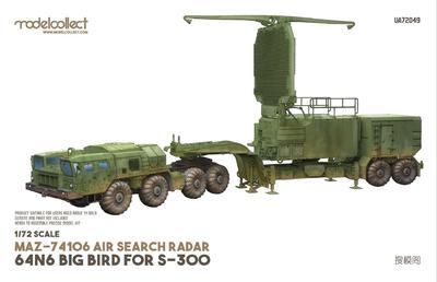 MAZ-74106 AIR Search Radar 64N6 Big Bird For S-300