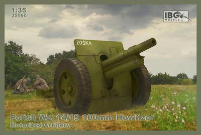 Skoda 100mm vz 14/19 Howitzer (Includes turned metal barrel)