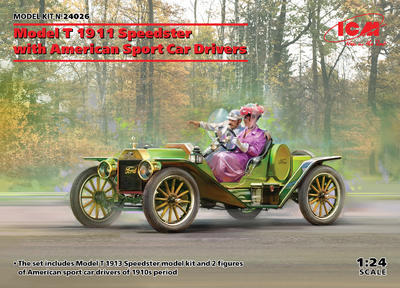 Model T 1913 Speedster with American Sport Car Drivers