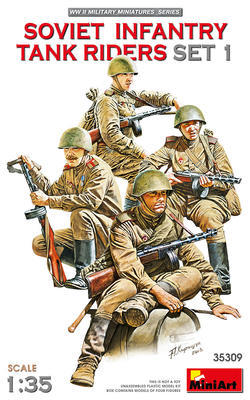Soviet Infantry Tank Riders Set 1 - 1