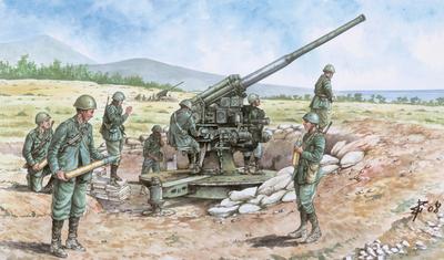 ITALIAN 90/53 GUN with CREW (1:72) - 1