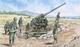 ITALIAN 90/53 GUN with CREW (1:72) - 1/2