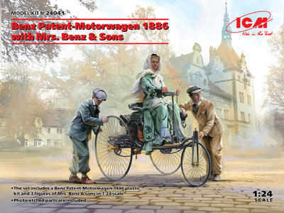 Benz Patent-Motorwagen 1886 with Mrs. Benz & Sons - 1