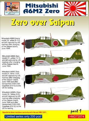 Mitsubishi A6M2 Zero over Saipan part1 - 1
