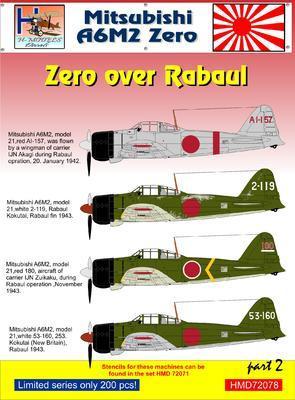 Mitsubishi A6M2 Zero over Rabaul part 2 - 1