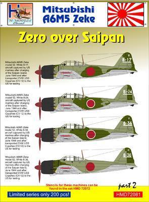 Mitsubishi A6M5 Zeke Zero over Saipan part 2 - 1