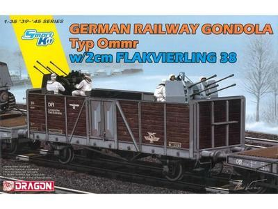 German Railway Gondola Typ Ommr w/2cm Flakvierlig  38