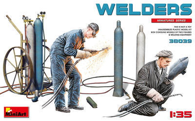 Welders (2 fig & welding equipment)