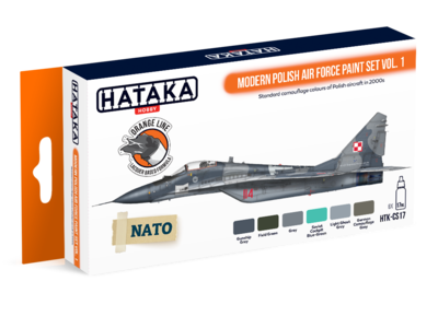 Modern Polish Air Force Paint Set Vol. 1, sada barev - 1