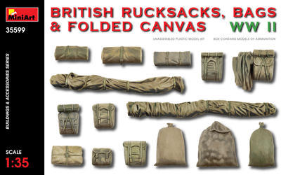 British Rucksacks, Bags & Folded Canvas WWII