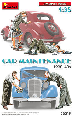 Car Maintenance 1930-40s (4 fig)