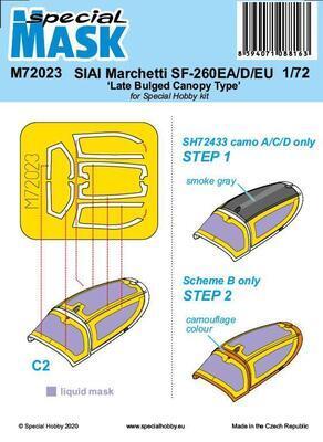 SIAI-Marchetti SF-260EA/D/EU 'Late Bulged Canopy Type' Mask