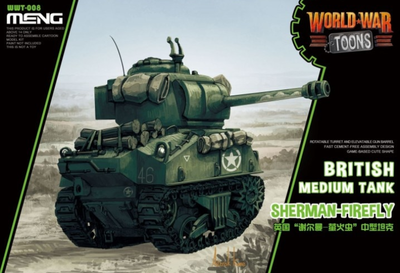 British Medium Tank  Sherman - Frefly - World War Toons