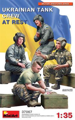 UKRAINIAN TANK CREW AT REST - 1