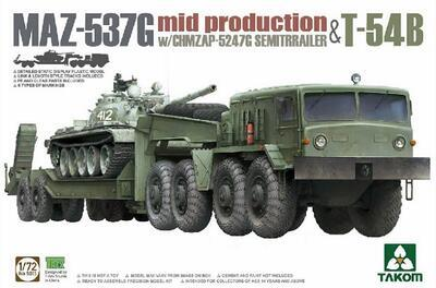 MAZ-537G mid production with CHMZAP-5247G Semitrailer & T-54B