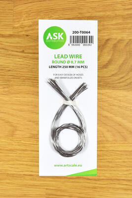 Lead Wire - Round O 0,7 mm x 250 mm (16 pcs)