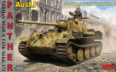 German Medium Tank Sd.Kfz.171 Panther Ausf. F w/ workable track, Kw.K L/70 & Kw.K L/100