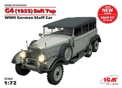G4 (1935) Soft Top WWII German Staff Car