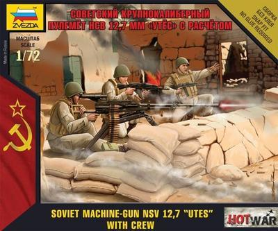 "Soviet Machine .Gun NSV 12,7 ""UTES"" with Crew"