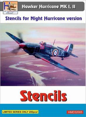 Stencils for Night Hurricane version, Hawker Hurricane MK I,II - 1