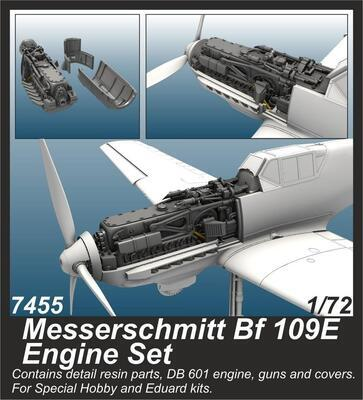 Messerschmitt Bf 109E Engine , resin
