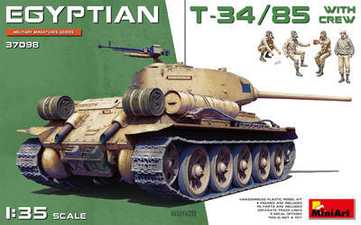 EGYPTIAN T-34/85 WITH CREW - 1