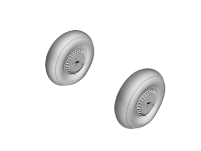 Reggiane Re 2005 Main Wheels