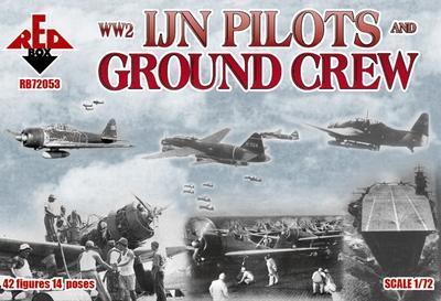 WW2 IJN Pilots and Ground Crew, 42 Figures, 14 Poses - 1