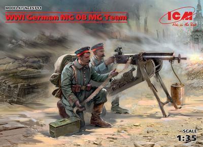 WWI German MG 08 MG Team - 1