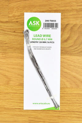 Lead Wire - Round O 0,7 mm x 120 mm (16 pcs)